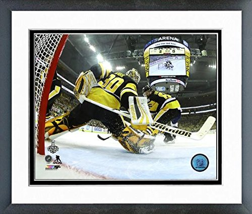 """Matt Murray Pittsburgh Penguins 2017 Stanley Cup Action Photo (Size: 12.5"""" x 15.5"""") Framed"""