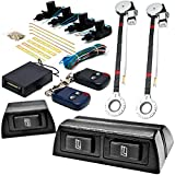 Biltek 2x Door Car Power Window + Keyless Door Unlock Kit For Chevy Monza Nova Optra Orlando Prizm R10 Silverado