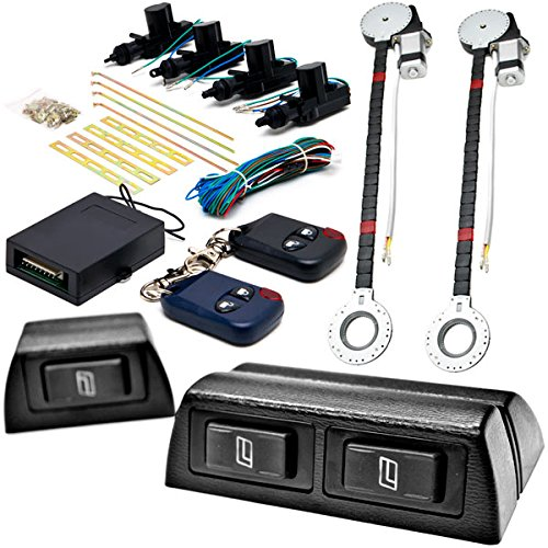 2x Door Car Power Window + Keyless Door Unlock Kit For Ford Super Duty F-100 Ranger F-150 Heritage F-250 KapscoMoto