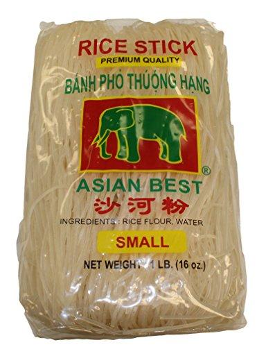Rice Stick Noodles - Asian Best Premium Rice Stick Noodle, 16 oz (3 Pack)