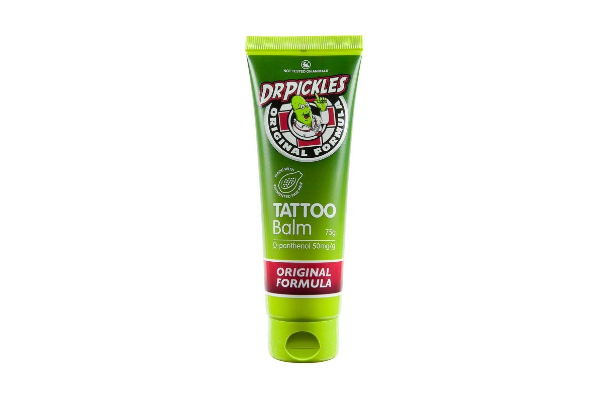 Dr Pickles Premium Tattoo Balm - During and Tattoo Aftercare Lotion - Skin healing, moisturising, Increases color and reduces pain - Original Formula by Dr Pickles