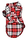 Best Dog Outfits - BleuMoo Pet Dog Puppy Plaid T Shirt Lapel Review