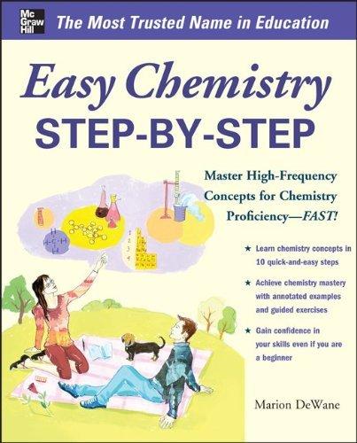 Easy Chemistry Step-by-Step (Easy Step-by-Step Series) by Marian DeWane (2014-06-30)