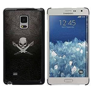 For Samsung Galaxy Mega 5.8 Case , Pirate Symbole Inscription Skull Swords bateau à voile - Diseño Patrón Teléfono Caso Cubierta Case Bumper Duro Protección Case Cover Funda