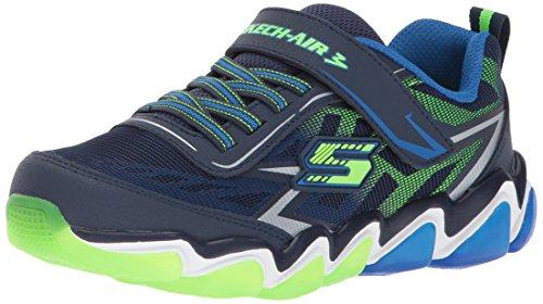 Skechers Kids Boys' Skech-Air 3.0-Downshift Sneaker,NAVY/LIME,3 M US Little ()