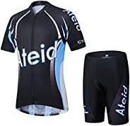 Ateid Children Boys' Girls' Cycling Jersey Set Short Sleeve with 3D Padde