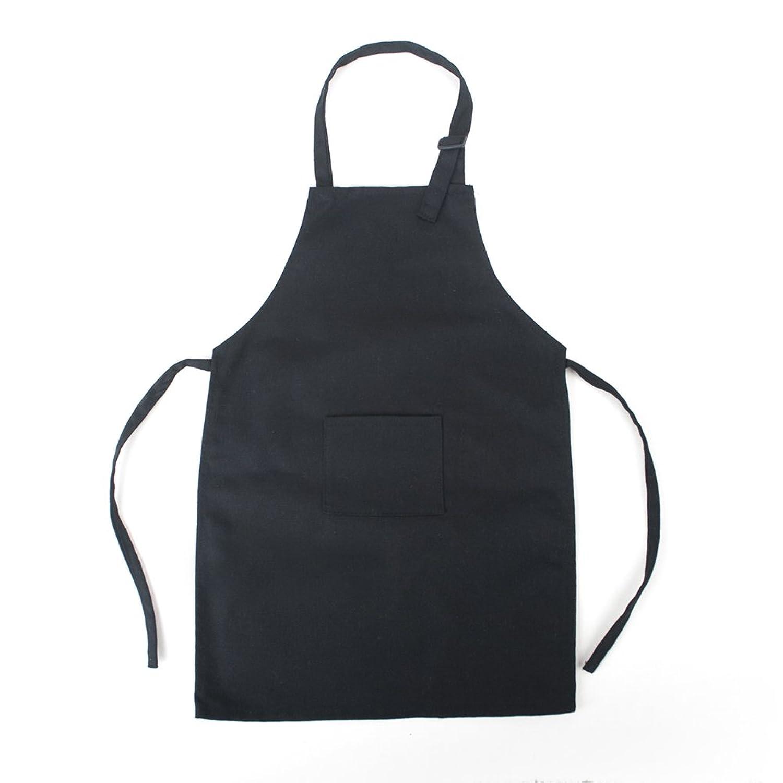 White apron meals - Amazon Com Opromo Colorful Cotton Canvas Kids Aprons With Pocket Artist Apron Chef Apron S Xxl Black S Clothing