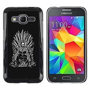 Be Good Phone Accessory // Dura Cáscara cubierta Protectora Caso Carcasa Funda de Protección para Samsung Galaxy Core Prime SM-G360 // Blue Meth Throne King