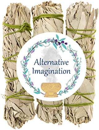 Premium California White Sage 4 Inch Smudge Sticks - 3 Pack. Use for Home Cleansing, and Fragrance, Meditation, Smudging Rituals. Grown and packaged in the United States.