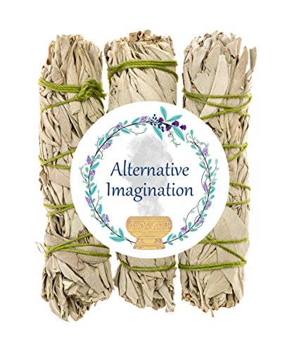 Alternative Imagination Premium California White Sage 4 Inch Smudge Sticks - 3 Pack, Brand by Alternative Imagination