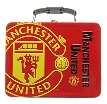 Official Embossed Manchester United Tin Lunch Box (Manchester Lunch United Box)