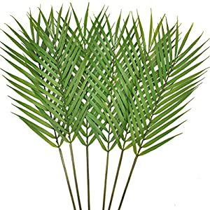 Artificial Palm Tree Faux Leaves Green Plants Greenery for Flowers Arrangement Wedding Decoration 1