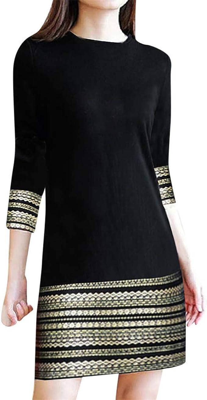 Dorical Damen Weihnachten Outfit Mini Schwarz Schicke Elegant Lang