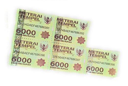 Stamp Meterai Tempel / Materai Indonesia 6000 (NEW) - 5 - Indonesia Store