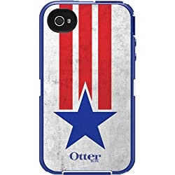 OtterBox Defender Series Case and Holster for iPhone 4/4S - Retail Packaging - Anthem Collection Star Stripes from OtterBox