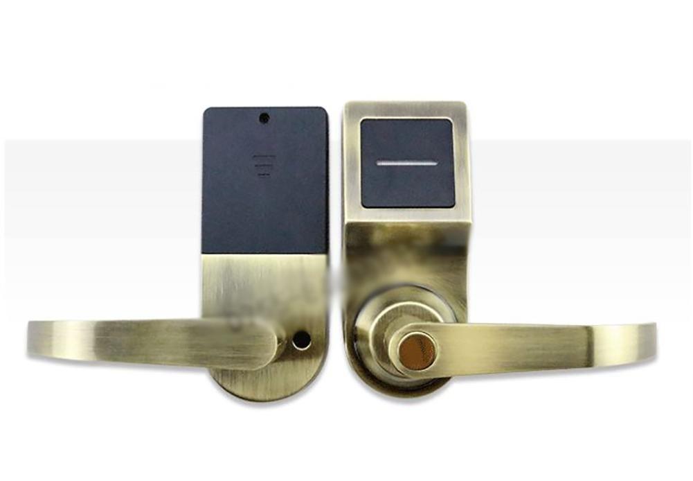 TDJDYQ Glissez la carte Serrure à induction électronique Smart Lock Entrée sans clé Carte IC - Clé mécanique ouvrir