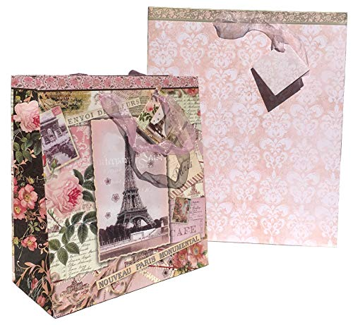 (Pooch & Sweetheart Nouveau Paris Monumental Embellished Gift Bags, 2)
