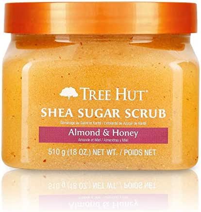 Tree Hut Shea Sugar Scrub Almond & Honey, 18oz, Ultra Hydrating and Exfoliating Scrub for Nourishing Essential Body Care (Pack of 3)