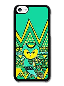 MMZ DIY PHONE CASEAztec Cute Owl in Funny Illustration case for iphone 4/4s