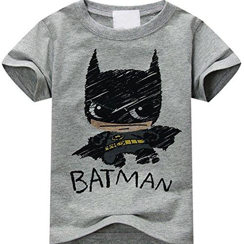 T-shirt Batman Graphic Tees Cute Sun Baby Kids Infant Toddler T-shirt Soft Cotton Superhero Fashion (Batman For Toddlers)