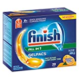 RECKITT BENCKISER PROFESSIONAL Dish Detergent Gelpacs, Orange Scent, Box of 20 Gelpacs (76491)