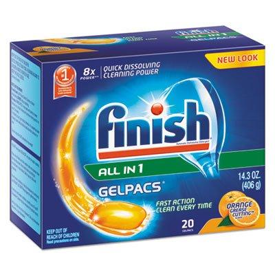 RECKITT BENCKISER PROFESSIONAL Dish Detergent Gelpacs, Orange Scent, Box of 20 Gelpacs (76491)