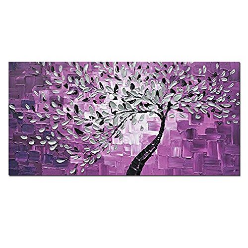 H.COZY Abstract Art Tree Oil Painting High Quality Hand Painted Home Decor Wall Art Oil Painting on Canvas (No Frame)