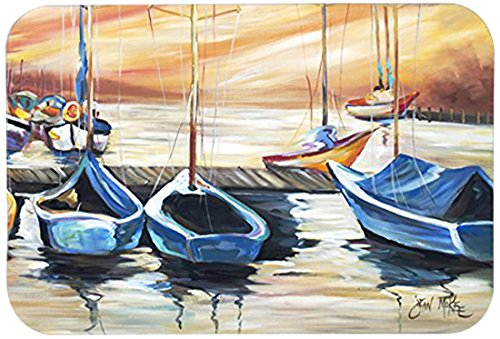 Carolines Treasures JMK1038CMTBeach View with Sailboats Kitchen or Bath Mat 20 by 30 Multicolor