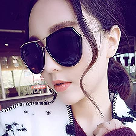 Sunyan Koreanische Version neue Sonnenbrille Frau tide Pink mesh Rot gleichen Stil rundes Gesicht big frame Sonnenbrillen Treiber, pulverisiert Cherry Blossom Pulver
