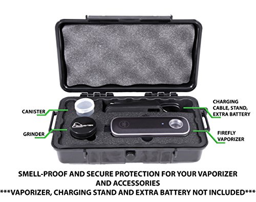 Cloud/Ten XL Firefly 2 Case - Smell Proof Odor Resistant Carry Bag Case Designed to Hold Firefly 2, Extra Battery, Charging Stand, Cleaning Tools, USB Cable and Included Grinder, Herb Canister by CLOUD/TEN (Image #2)