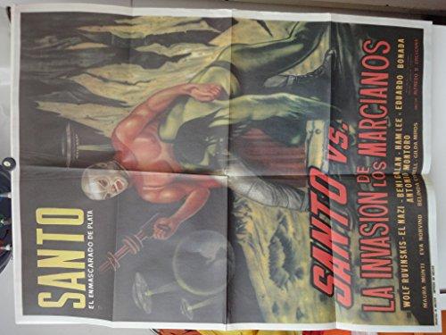 Poster de Re-estreno Santo El Enmascarado De Plata Versus La Invasion De Los Marcianos