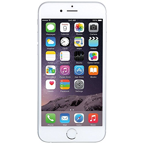 Apple iPhone 6, 128GB, Silver - GSM Unlocked (Renewed) (No Contract Phones Iphone)