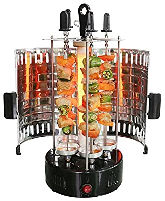 Electric Grill Kebab Tabletop Indoor Barbeque Shashlik 220v with Removable doors. 1200 W