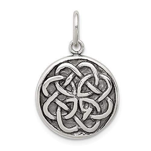 925 Sterling Silver Irish Claddagh Celtic Knot Pendant Charm Necklace Man Fine Jewelry Gift For Dad Mens For ()