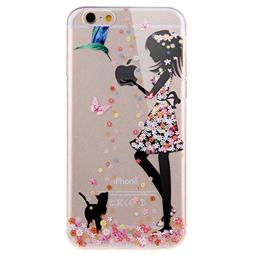 iPhone 6S Plus Case,iPhone 6 Plus/6S Plus Tpu Case,UZZO [Slim Fit] Clear TPU Gel Rubber Skin Silicone Protective Case, Cute Cartoon Dolphin Penguin Flower Fairy Case For iPhone 6 Plus/6S Plus (Ky 6 Case Iphone)