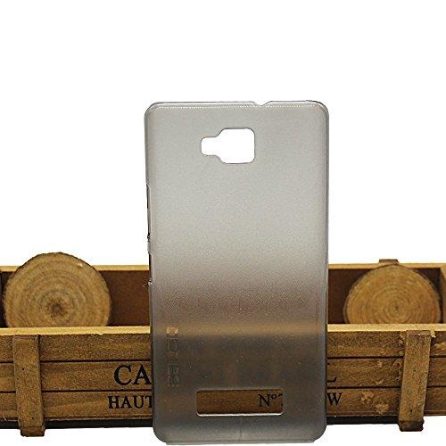 Guran® Plástico Hard Funda Cascara para Vernee Apollo Lite Smartphone Bumper PC Case Cover-blanco transparente gris
