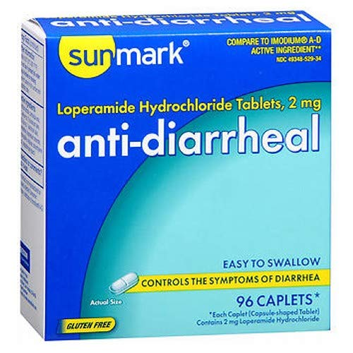 Sunmark Anti-Diarrheal Caplets - 96 ct, Pack of 2 by Sunmark