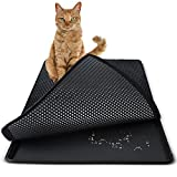 Paws & Pals Cat Litter Mat 30″ x 23″ Inch Jumbo Large Size Non Slip Litter Trap Pad Litter Boxes – Black Review
