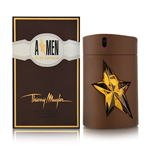 Thierry Mugler Eau de Toilette Spray, Angel Men Pure Havane, 3.4 Ounce ()
