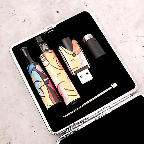 MightySkins Skin Compatible with Kandypens Vape Pen - Solid Black | Fits All of These Kandypens Models - Gravity, Draco, Elite, Ice Cream Man, Galaxy, Donuts