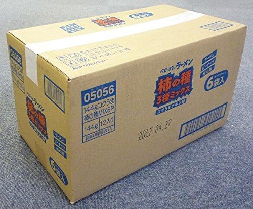 Three mix 6P 144gX12 bags species of Oyatsukanpani baby star ramen persimmon