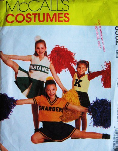 McCall's 8382 Childs Size 8, 10 (Breast 27-28.5) Cheer Leader Costume (Cheerleaders Dress Up For Halloween)