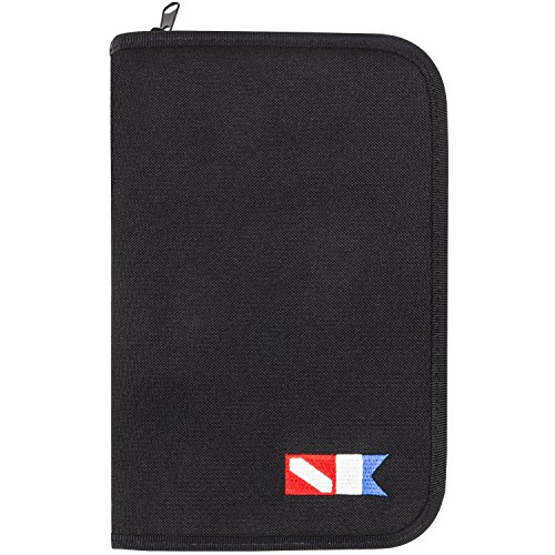 (Trident 3-Ring Zippered Dive Log Organizer (Black, Trident Logo Design))