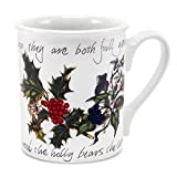 Portmeirion Holly and Ivy Breakfast Mug, Set of 6