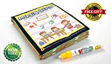 EZGOshop Water Activity Books Magic Water Drawing Coloring Painting Doodle Cloth Book for Toddlers with Water Pen and Gift (Numbers)
