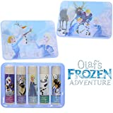 Townley Girl Frozen Sparkly Lip Balm For Girls, 5 pack with Decorative Tin