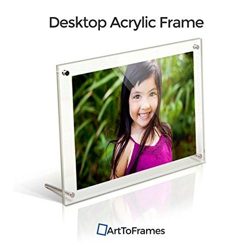 ArtToFrames Acrylic 109 4x6 Chrome Floating Pictures Hardware