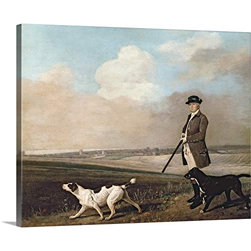 GREATBIGCANVAS Gallery-Wrapped Canvas Entitled Sir John Nelthorpe, 6th Baronet Out Shooting with his Dogs by George (1724-1806) Stubbs 14