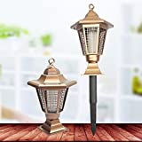 Solar Power Zapper Enhanced Outdoor Mosquitoes/Moths/Flies Insect Killer Hang or Stake in the Ground Cordless Garden Light 0.2w