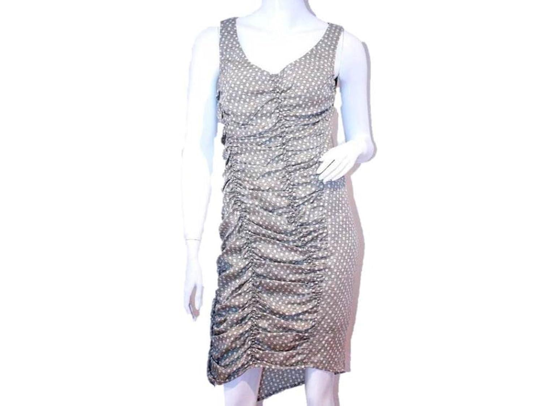 Ali Ro Polka Versatile Asymmetric Sleeveless Dress